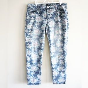 a.n.a. | Floral Print Skinny Ankle Jeans